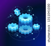 mechanical concept. gears... | Shutterstock .eps vector #1311041030