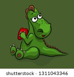 Cute Little Dragon Holds In Hi...