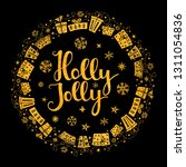 holly jolly quote with stars... | Shutterstock .eps vector #1311054836