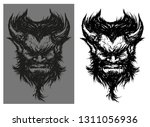 evil the devil is furious with...   Shutterstock .eps vector #1311056936