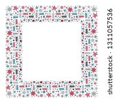 square holiday christmas...   Shutterstock .eps vector #1311057536