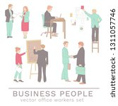 office people concepts in line... | Shutterstock .eps vector #1311057746