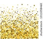 gold glitter particles...   Shutterstock .eps vector #1311058460