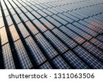 the solar panels on the lawn | Shutterstock . vector #1311063506