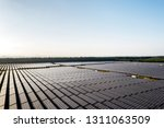 the solar panels on the lawn | Shutterstock . vector #1311063509