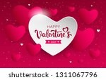 happy valentine's day pink and... | Shutterstock .eps vector #1311067796