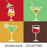 collection of cocktails | Shutterstock .eps vector #131107280