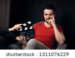 actor ready to shoot movie... | Shutterstock . vector #1311076229