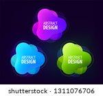 set of abstract gradient... | Shutterstock .eps vector #1311076706