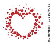 valentine's day card red... | Shutterstock .eps vector #1311079766