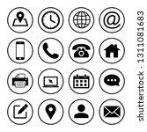 web icons set. web design icon. ... | Shutterstock .eps vector #1311081683