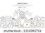 mindfulness   modern line... | Shutterstock .eps vector #1311081716