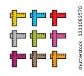 t shape ruler icon color... | Shutterstock .eps vector #1311083570