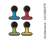 rubber stamp or seal color... | Shutterstock .eps vector #1311083579