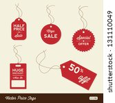vector sale tags   labels | Shutterstock .eps vector #131110049