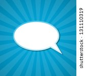the paper speech bubble... | Shutterstock .eps vector #131110319