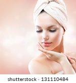spa girl. beautiful young woman ...   Shutterstock . vector #131110484
