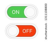 toggle switch icon  on  off... | Shutterstock .eps vector #1311108800
