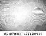 grunge halftone dots pattern... | Shutterstock .eps vector #1311109889