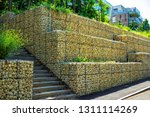 gabion retaining wall   metal... | Shutterstock . vector #1311114269