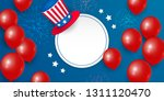 happy presidents day card with...   Shutterstock .eps vector #1311120470