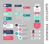 infographic elements collection ... | Shutterstock .eps vector #1311124970