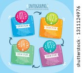infographic template 4 options... | Shutterstock .eps vector #1311124976