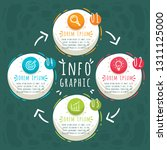 infographic template 4 options... | Shutterstock .eps vector #1311125000
