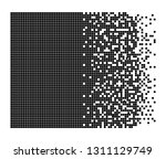 dissolved filled square dotted... | Shutterstock .eps vector #1311129749