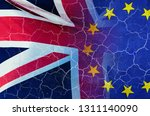 no deal brexit concept image of ... | Shutterstock . vector #1311140090