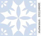 blue portuguese tiles pattern   ... | Shutterstock .eps vector #1311148400