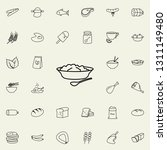 puree plates icon. food icons... | Shutterstock . vector #1311149480