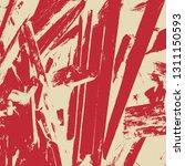 empty distressed scarlet... | Shutterstock .eps vector #1311150593