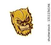 head of ape | Shutterstock .eps vector #1311156146