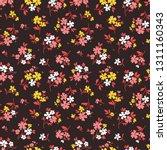 floral pattern. pretty flowers... | Shutterstock .eps vector #1311160343