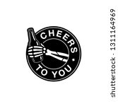 cheers to you skeleton hand...   Shutterstock .eps vector #1311164969