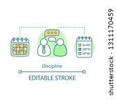 discipline concept icon.... | Shutterstock .eps vector #1311170459