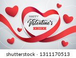 happy valentine's day red... | Shutterstock .eps vector #1311170513
