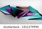 3d geometric triangular shapes...   Shutterstock .eps vector #1311179990