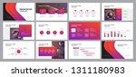 business presentation design... | Shutterstock .eps vector #1311180983
