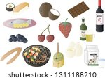 miscellaneous food illustration ... | Shutterstock . vector #1311188210