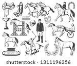 equestrian sport  horse polo... | Shutterstock .eps vector #1311196256