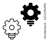 creative bulb shaped gears icon ... | Shutterstock .eps vector #1311196490