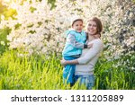 family mom with daughter girl... | Shutterstock . vector #1311205889