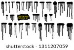 paint drip. splatter set....   Shutterstock .eps vector #1311207059