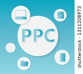 ppc  pay per click  business... | Shutterstock .eps vector #1311208973