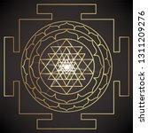 the sri yantra or sri chakra ... | Shutterstock .eps vector #1311209276