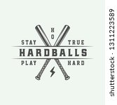 vintage baseball sport logo ... | Shutterstock . vector #1311223589