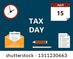 vector illustration of the tax... | Shutterstock .eps vector #1311230663
