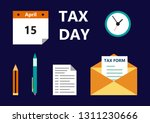 vector illustration of the tax... | Shutterstock .eps vector #1311230666